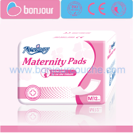100% Cotton/Super Absorption/Ultra Thin/Soft/Belted/Cheap ROSEMARY Sanitary/Maternity Pads with Manufacturer in China