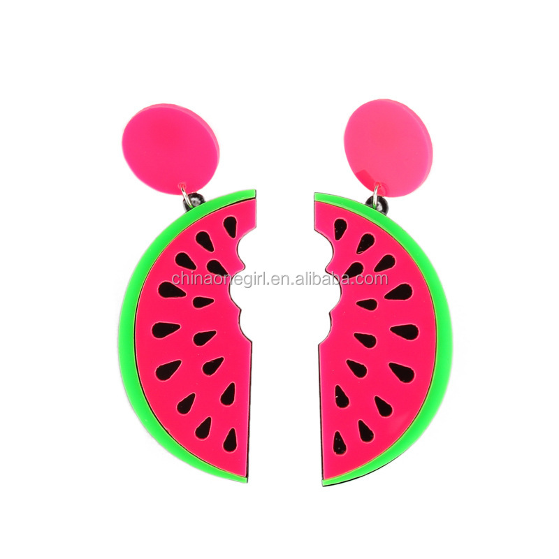 Acrylic Fruit Watermelon Drop <strong>Earring</strong>