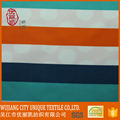 custom colorful stripe 100% polyester microfiber peach skin fabric for children beach pants