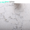 White Carrera Marble Veins Artificial Quartz Stone Slabs with per Square Meter Price