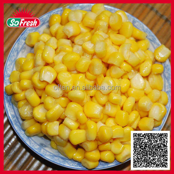 184ml canned corn kernel cooking canned sweet corn