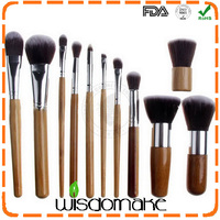 Professional 11pcs/set Bamboo Handle Makeup Brush Pro Kits Brushes Kabuki makeup cosmetics brush