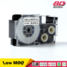 18mm black on white compatible XR-18WE1 XR 18WE1 label tape for casio