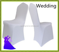 White wedding spandex chair cover wholesale cheap from China