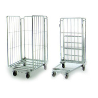 Warehouse metal rolling security cage