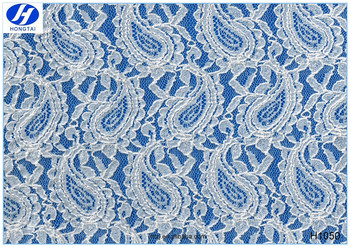 2016 Hongtai High Quality White Heavy Lace Fabric Embroidery Poland Lace