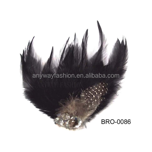 Wholesale peacock feather rhinestone brooches for graduation party