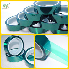 Silicone adhesive single sided green pet sticky tape