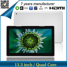 ZXS-133 13 inch quad core ips screen 1920*1080 china low price tablet pc prices from shenzhen factory