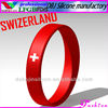 SWIZERLAND Personalized DIY Rubber/Silicone Bracelet/Wristband for Holiday