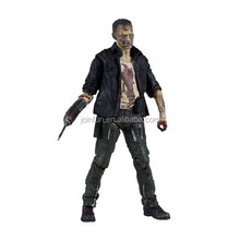 High quality pvc action figure maker,Custom walking dead action figure,OEM pvc plastic action figure with super articulation