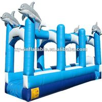 Fast Selling 36' Single Lane Dolphin Inflatable Water Slip and Slide