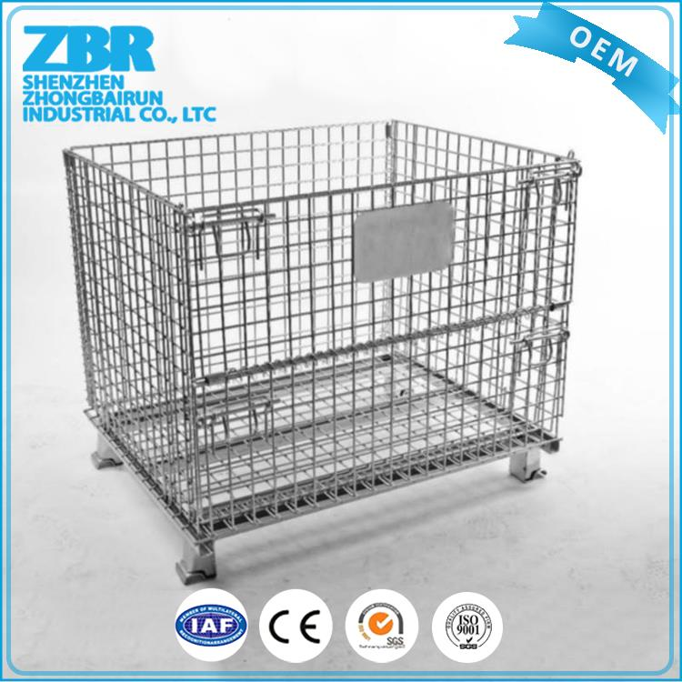 Galvanized metal storage coin cages/galvanized steel box