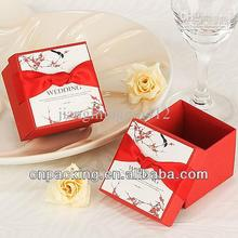 wholesale red wedding favors box