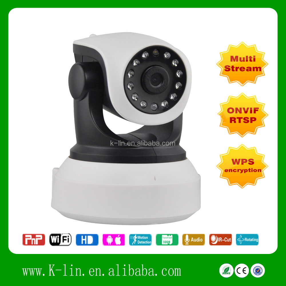 Hot Sale QR Code Scam IP Camera For Indoor USE With Remote Pan Tilt Two way Intercom IOS Android Supported