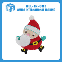 High quality customized Santa Claus non-woven small hanging ornament