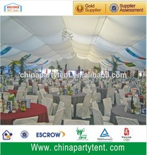 Aluminum marquee structure 10m span and 30m long /10x30m party marquee tent for 200 people sit down the tables