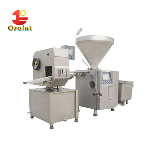 Automatic sausage linker tie/twist machine for sausage salami making