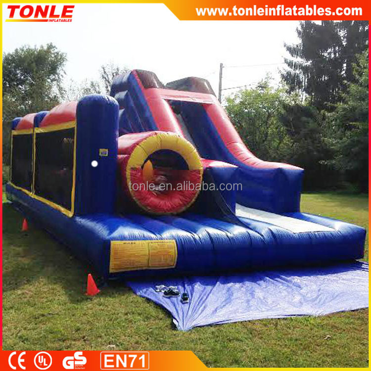 Inflatable obstacle course slide combo for festival or party, inflatable mini combo jumper