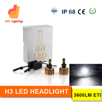 Auto lights White 6000k 12V 30W H3 LED HeadLight 2 Bulbs Car h3 LED Headlamp DRL h3 Fog Lamp