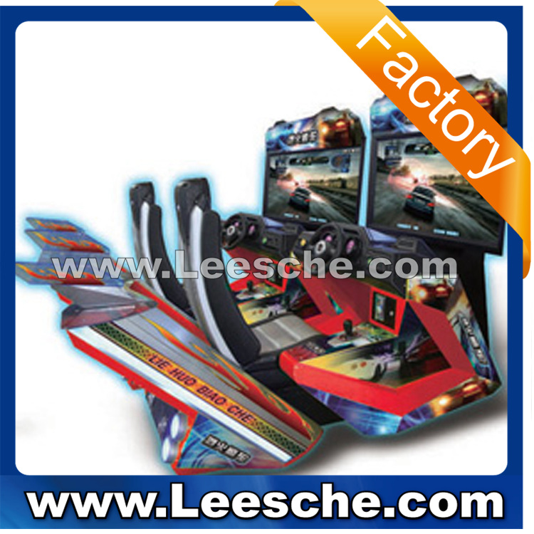 LSJQ-694 42 inch LCD arcade racing car game machine for sale car driving simulator racing simulator driving simulator