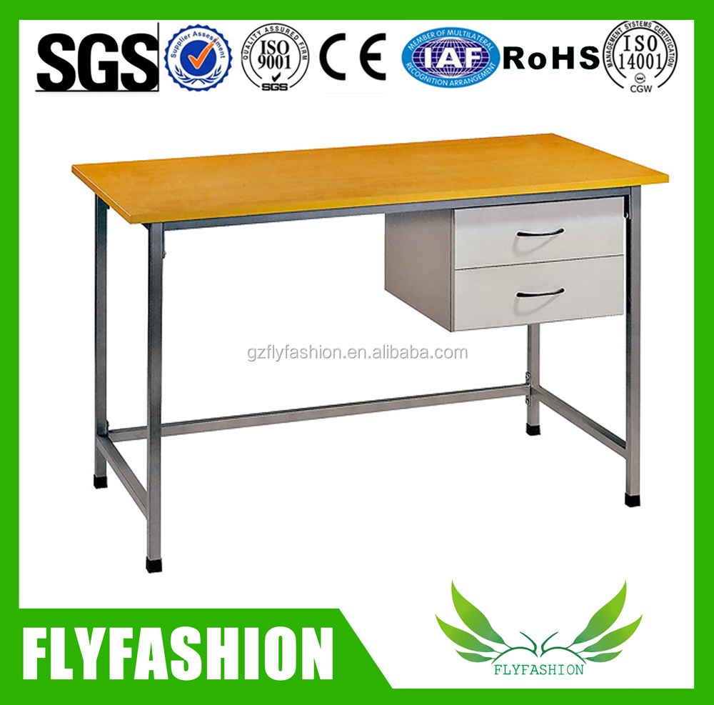Instructor Station Teachers Desk with 2 Locking File Drawers