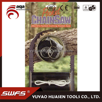 HOT sale survival in tropic jungle saw chain, Short Kutt Pocket Survival Chain Saw