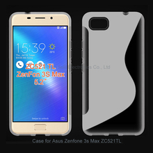 Hot Selling S Line TPU Cases For Asus Zenfone 3s Max ZC521TL Smart Cover