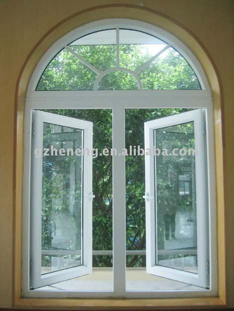 High quality arch top aluminum window