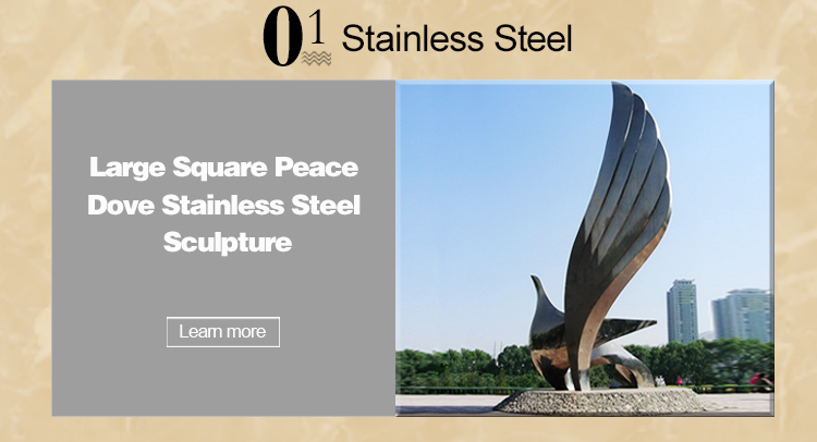 Polished Stainless Steel Abstract Modern Metal Art Sculptures