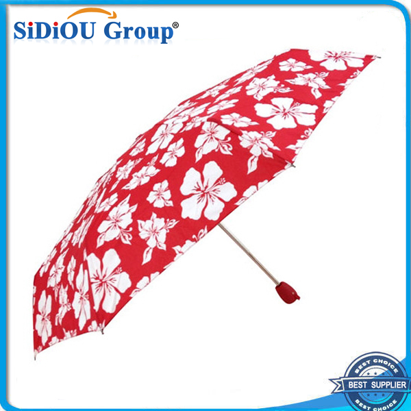 New Invention 3 Folding Flower Printed Umbrellas