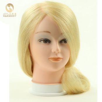 Super Quality training head with blonde hair