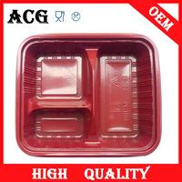Canton fair disposable round clear plastic trays for fast food