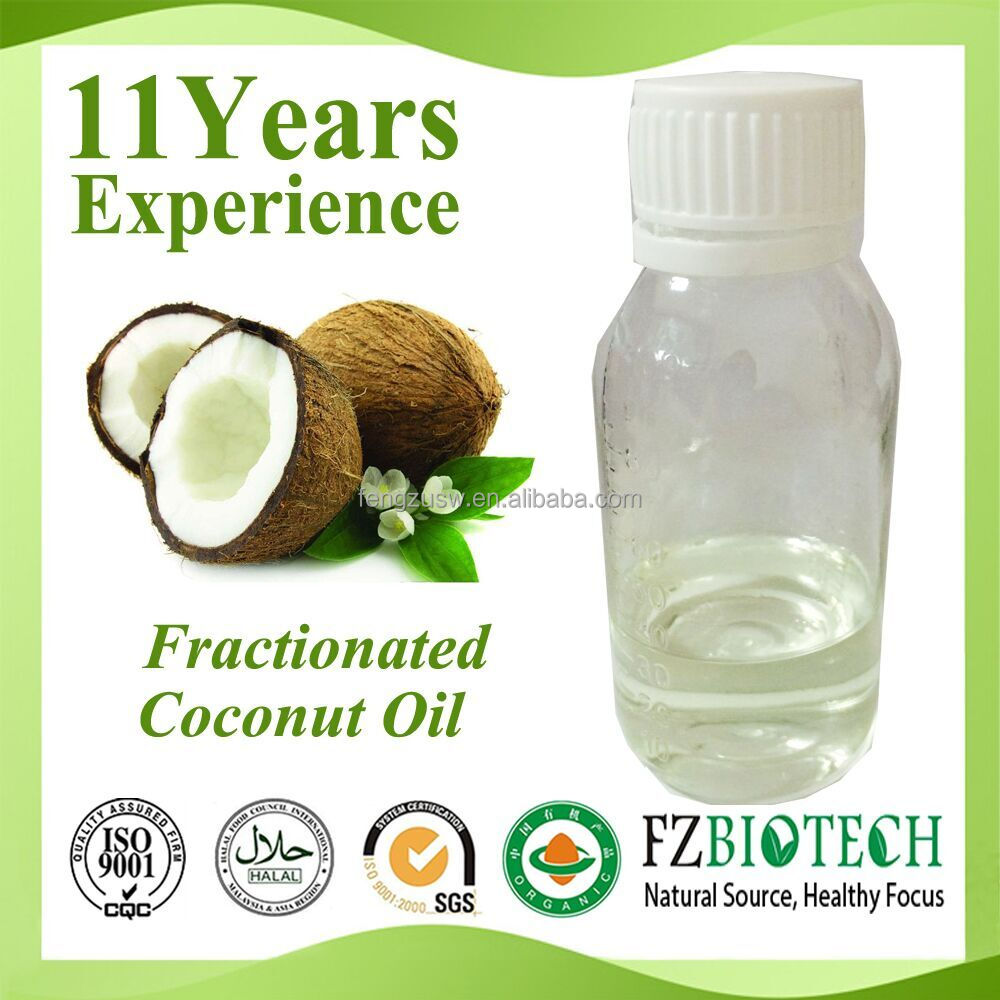 Flavoured Edible Organic Private Label Coconut Oil Price, Clear Color Fractionated mct Coconut Oil for Hair