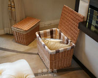 s/2 full willow basket with liner