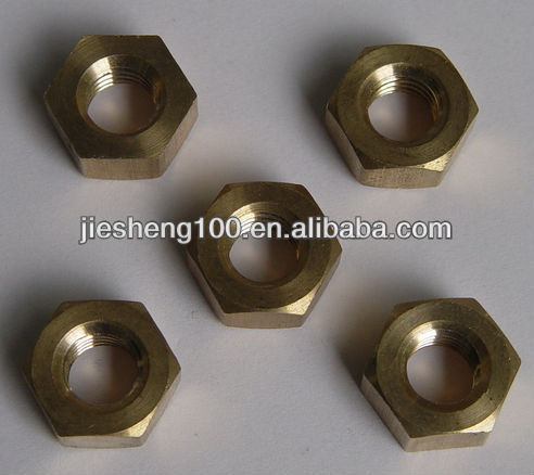 copper hex nuts with <strong>brass</strong>