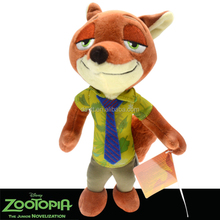 Hotsale 10 inch cartoon animation Red Fox Nick& Rabbit Judy stuffed animal plush <strong>toy</strong>