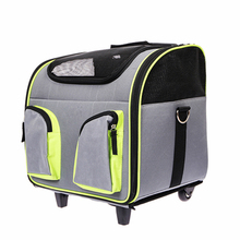 Wholesale Rolling Cat Dog Pet Trolley Carrier with Wheels