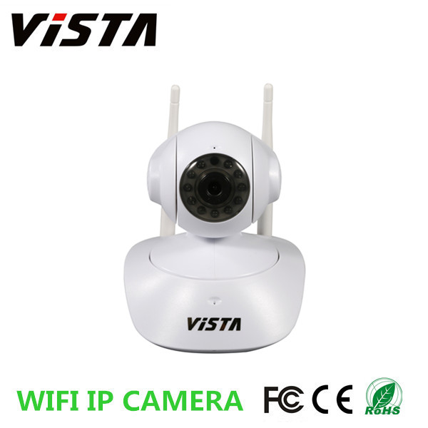720P HD Wireless Pan Tilt Indoor Remote Home Security P2P IP Camera with Two-Way Audio Linkage Alarm