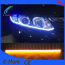 Crystal Tear Light with Stretch Length DRL for all cars