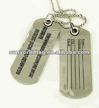 Airway accessory Stainless Steel tag