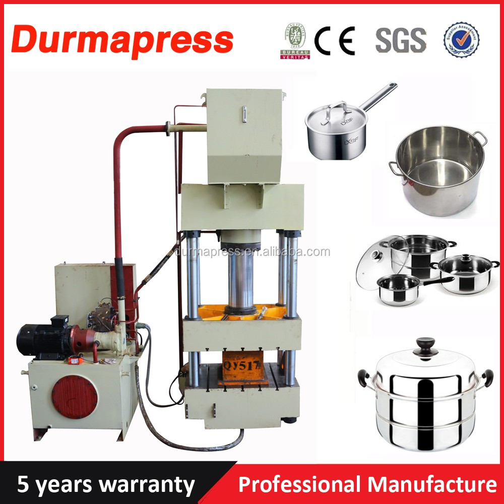 More discount 250 Ton hydraulic press for stainless steel pots and pans manufacturering