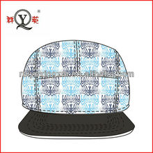 Wholesale two tone embroidery flat brim cap customed snap back hat made in China
