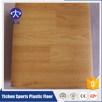 Durable,health and eco-friendly wood like PVC table tennis floor