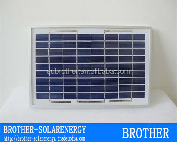 2W 9V power cell small glass solar panel