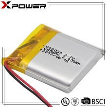 High quality 3.7V 650mAh rechargeable lipo battery for electronics OEM
