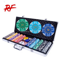 500 Aluminum case poker chip set/poker chips set