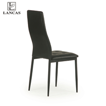 Comfortable black PU Leather Dining Chair in Dining Room