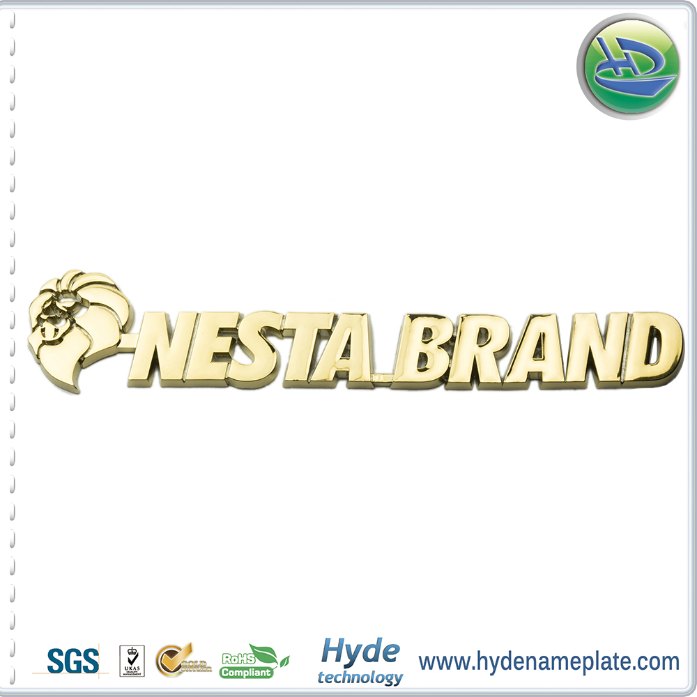 Best Quality Custome gold chrome Car Emblem With Careful Packing Auto Accessories Chrome Car Emblem