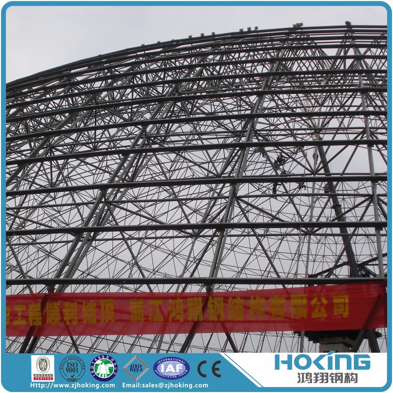 Light Weight Welding Connected Steel Space Frame for Storage House and Factory Plant